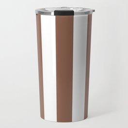 Italian roast purple - solid color - white vertical lines pattern Travel Mug