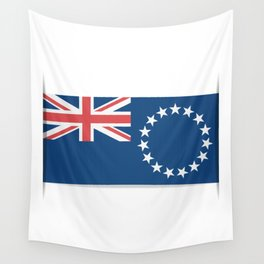Flag of Cook Islands. The slit in the paper with shadows. Wall Tapestry