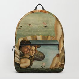 The Birth of Venus - Sandro Botticelli, Classic Painting Backpack