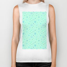 Atomic Starry Night in Mod Mint Biker Tank
