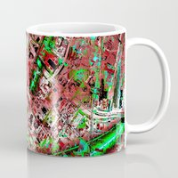 los angeles Mugs featuring los angeles by donphil