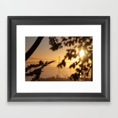 Bay Bridge - Sunrise Framed Art Print