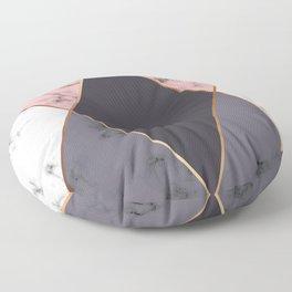 Marble Geometry 018 Floor Pillow