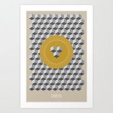 Geometria | Yellow Art Print