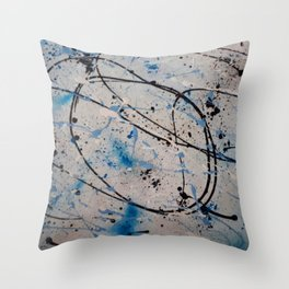 Blue Carnival Throw Pillow