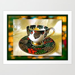 The Tea Cup Gift Of Friendship Art Print