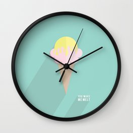 You Make Me Melt by Maisie Cross Wall Clock