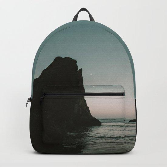 Oregon Coast Dark Ocean Backpack
