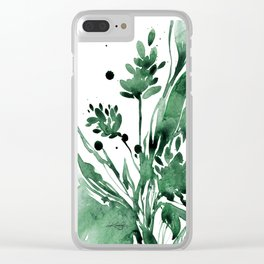 Organic Impressions No. 103 by Kathy Morton Stanion Clear iPhone Case
