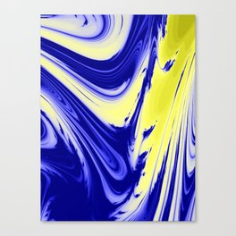 Swirls Of Blue and Yellow Canvas Print