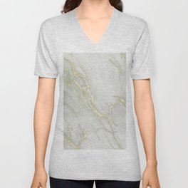 Marble Love Gold Metallic Unisex V-Neck