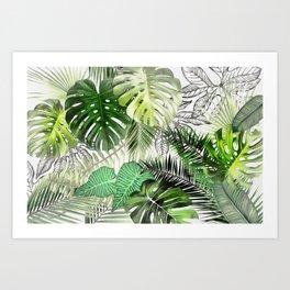 Tropical Foliage 01 Art Print