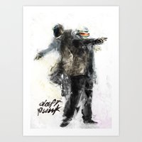 daft punk Art Prints featuring Daft Punk by Jason Cai
