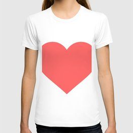 Heart (Salmon & White) T-shirt