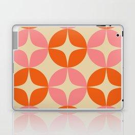 Mid Century Modern Pattern in Pink and Orange Laptop & iPad Skin