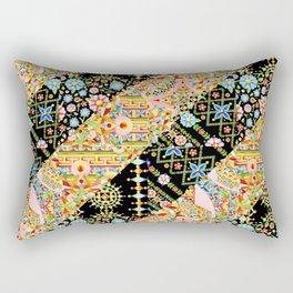 Crazy Patchwork Triangles Rectangular Pillow