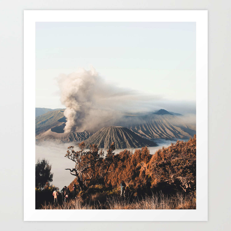 Volcano Landscape Art Print By Jsebouvi Society6