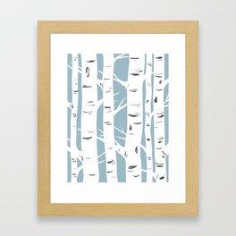 Blue Birches Framed Art Print