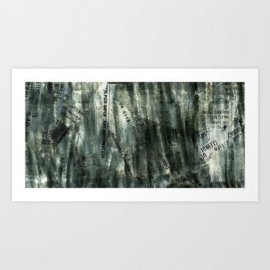Receipts Art Print