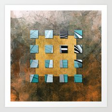 SQUARE AMBIENCE - Natural Lines Art Print