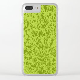 Green moss Clear iPhone Case
