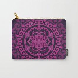 Pink Mandala on Dark Purple Carry-All Pouch