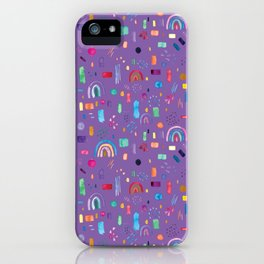 Watercolor cute colorful rainbow pattern iPhone Case