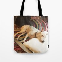 lincoln Tote Bags featuring Lincoln by asparke