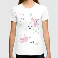 kittens T-shirts featuring Swanky Kittens by Miss Fluff