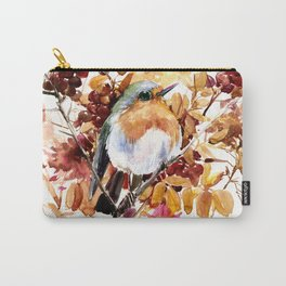 Robin Bird and Colors of Fall Carry-All Pouch