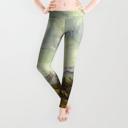 Vincent van Gogh's Wheat Field with Cypresses Leggings
