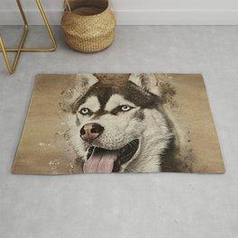 Siberian Husky Rug