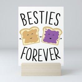 Cute Funny Peanut Butter Jelly Besties Forever Best Friends Mini Art Print