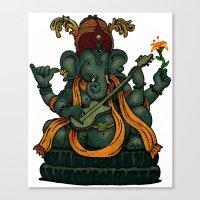 ganesha Canvas Prints featuring Ganesha by Nip Rogers