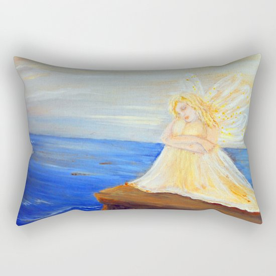 Invite your Angel | Angels are here Rectangular Pillow