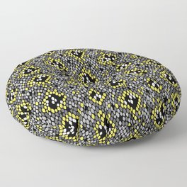 Snakeskin Pattern (Yellow and Gray) Floor Pillow