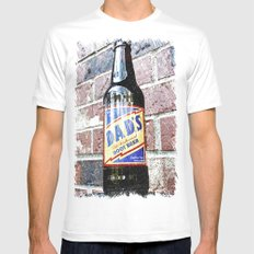 Retro root beer Mens Fitted Tee MEDIUM White