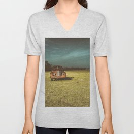 Lost In Time Truck Travel Unisex V-Neck