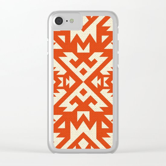 Navajo pattern Clear iPhone Case