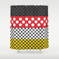 minnie mouse Shower Curtains featuring Minnie by AmadeuxArt