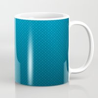 lv Mugs featuring LV Blue Pattern by Veylow
