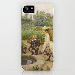 Marie-François Firmin-Girard 1838-1921 ENFANTS PRÈS DU BASSIN iPhone Case