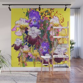 Decorative Blue-Red Spring Yellow & Wall Mural