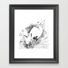 minima - deco fox Framed Art Print