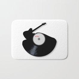 Rock Music Silhouette Record Bath Mat