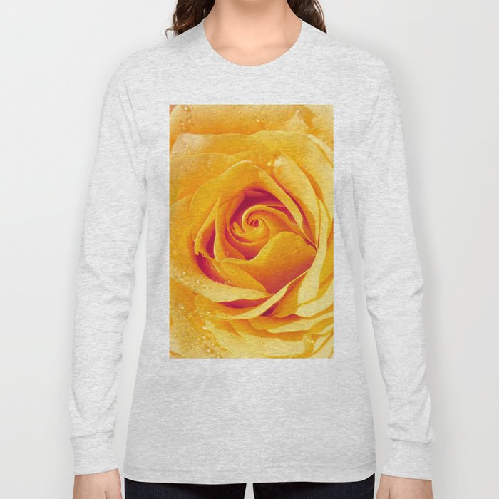 Gold Rose Bud- Yellow Roses and flowers Long Sleeve T-shirt