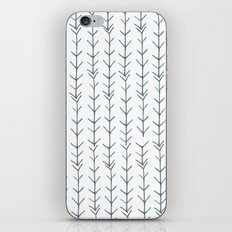 Twigs and branches freeform gray iPhone & iPod Skin