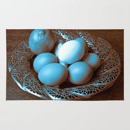 Egg Ginger Lemon blue Rug