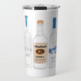 Vodka Bottles Illustration Travel Mug