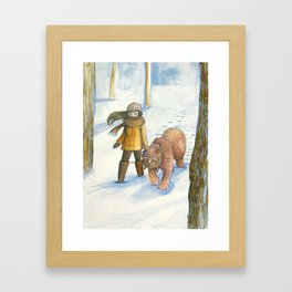 It Turned Out to be Friendly Framed Art Print